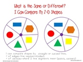 2-d Shapes Game-What is the Same or Different?