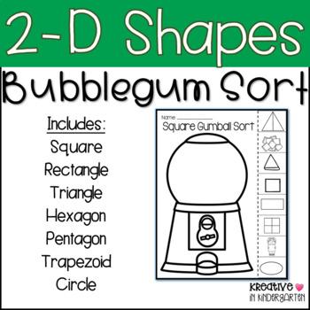 2-d and 3-d Shape Bubblegum Sort