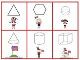 2-d and 3-d Shape Go Fish or Memory Game