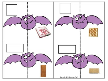 2-d and 3-d Shapes and real world objects Match Game-Halloween theme