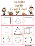 2-d and 3-d shapes bingo-Thanksgiving