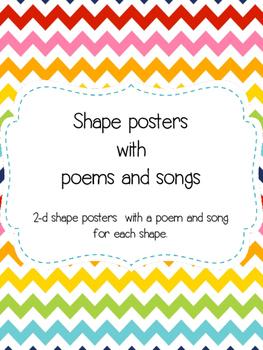 2-d shape posters