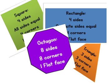 2-d shapes flashcards and their properties