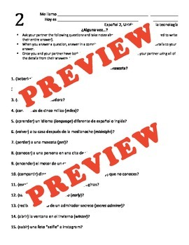 2-day lesson pack! Regular -er and -ir verbs in the preterite tense