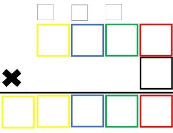 2 digit/ 3 digit/ 4 digit by one digit Multiplication Templates