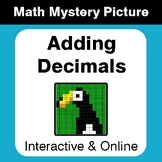 Adding Decimals - Interactive Math Mystery Picture - Dista