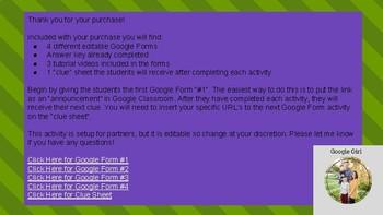 2-digit Addition Google Halloween Scavenger Hunt