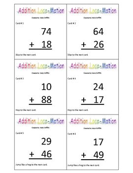 2 digit Addition Locomotion Game
