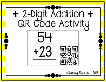 2-digit Addition QR Code Activity
