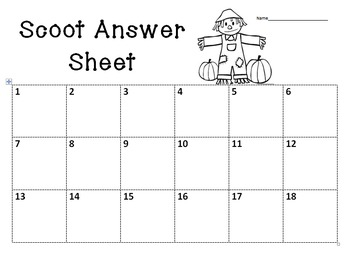 2-digit Addition Scoot! (without regrouping) Editable