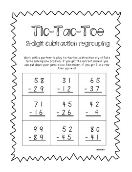 2-digit Addition & Subtraction Tic-Tac-Toe