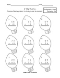 2-digit Addition & Subtraction with and without regrouping {Christmas-theme}