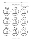 2-digit Addition & Subtraction with and without regrouping - apple theme