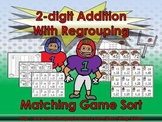 2-digit Addition With Regrouping Matching Game Sort - Football - King Virtue
