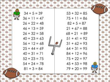 2-digit Addition Without Regrouping Matching Game Sort - Football - King Virtue