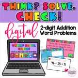 2 Digit Addition Digital Word Problems Seesaw Google Slide