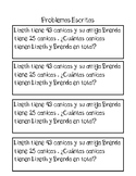 2 digit Addition Word Problems-Spanish