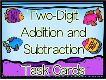 2-digit Addition and Subtraction Cards with and without Re