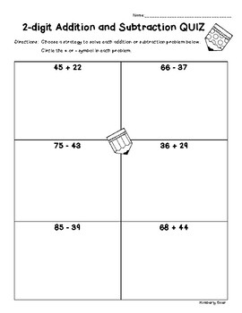 2-digit Addition and Subtraction QUIZ