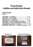 2 digit Addition and Subtraction Tarsia Puzzles Bundle