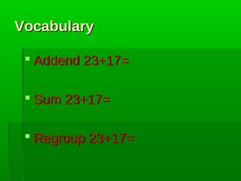 2-digit Addition (regrouping)