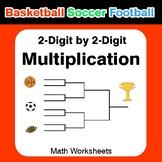 2-digit Multiplication - Basketball Math, Soccer Math, Foo