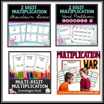 2 digit Multiplication Bundle ( 2 digit by 2 digit Multiplication )