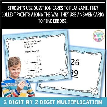 2 digit Multiplication Game - Showdown
