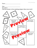 2-digit Multiplication with Shape Review Worksheets M 105