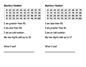 2-digit Mystery Number, Journal Size