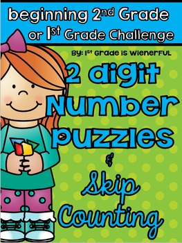 More or Less 2 digit number puzzles  & Skip Counting printables