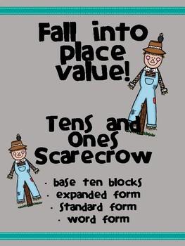 2-digit Place Value Scarecrow Craftivity