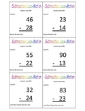 2 digit Subtraction Locomotion Game