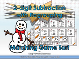 2-digit Subtraction With Regrouping Matching Game Sort - Winter Snowman