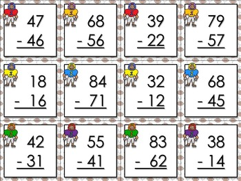 2-digit Subtraction Without Regrouping Matching Game Sort ...