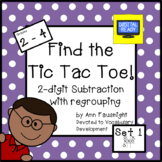 2-digit Subtraction with Regrouping: Tic Tac Toe