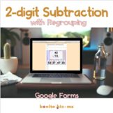 2-digit Subtraction with Regrouping Google Classroom Activ