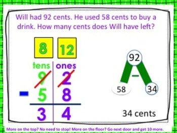 """2 digit Subtraction with regrouping  featuring """"Incredible"""" Hero Theme"""
