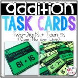2 digit + Teen Numbers Addition {Open Number Line}