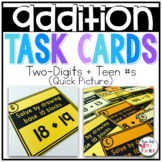 2 digit + Teen Numbers Addition {Quick Picture}