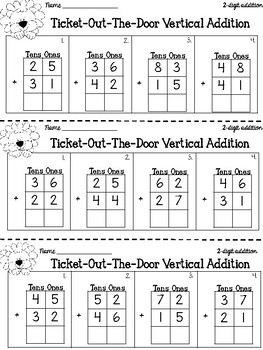 2-digit Vertical Addition
