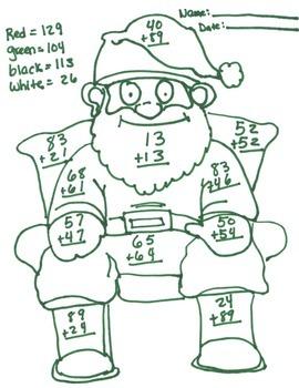 2 digit adding santa