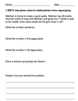 2 digit addition Word problems with and without regrouping