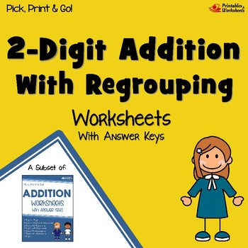 Double Digit Addition With Regrouping Assessment, Adding With Missing Numbers