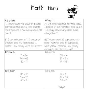 2-digit addition & subtraction ENGAGING activity!