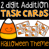 2 digit addition task cards (Halloween Theme)