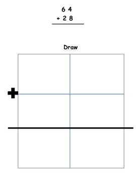 2 digit addition with drawing
