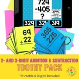 2-digit and 3-digit Addition and Subtraction Toothy® Pack