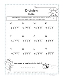2-digit by 1-digit Division With Remainders- Spring Riddle Worksheet