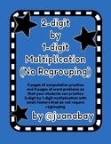 2-digit by 1-digit Multiplication (no regrouping): Computation and Word Problems